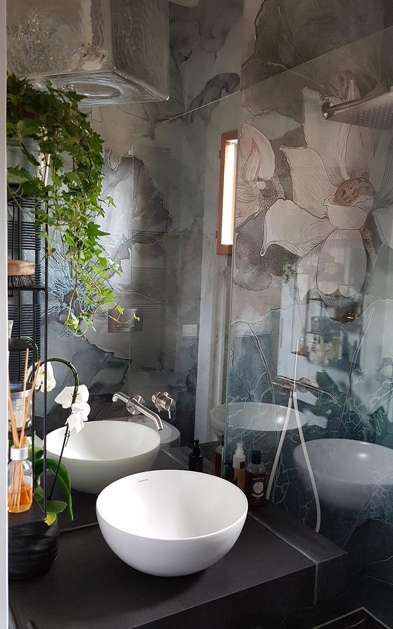 Carta da parati per ambiente bagno morosin ceramiche - Carta da parati bagno ...