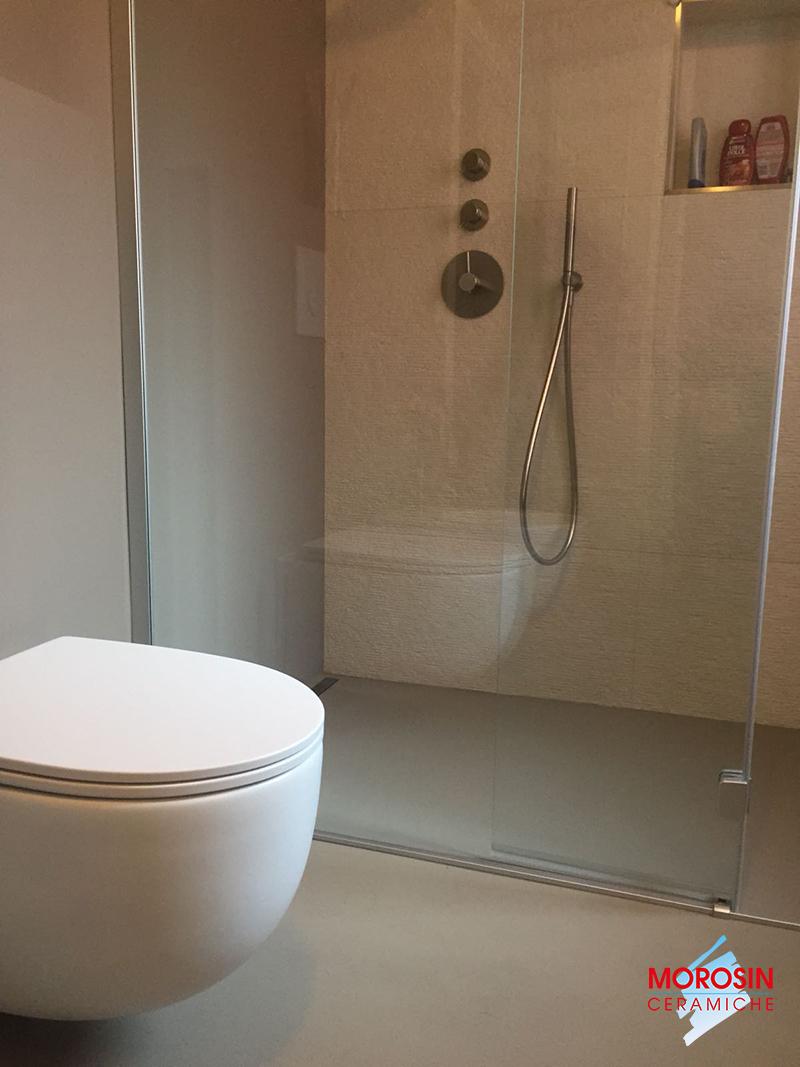 Rivestimenti Per Bagno In Resina rivestimento bagno: resina e grès porcellanato - morosin