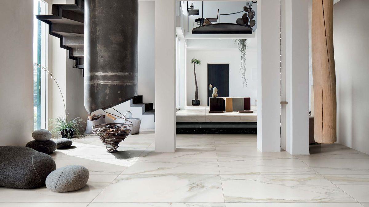 Gr s porcellanato effetto marmo bianco morosin ceramiche - Studiare interior design ...